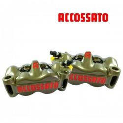 2x Etriers ACCOSSATO Monobloc Forgé - 4 pistons 34mm - 108mm