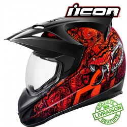 *NEW* Casque ICON - VARIANT COTTONMOUTH ROUGE
