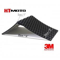 Kick Réservoir 3cm HTMOTO Noir - Taille 20x35cm