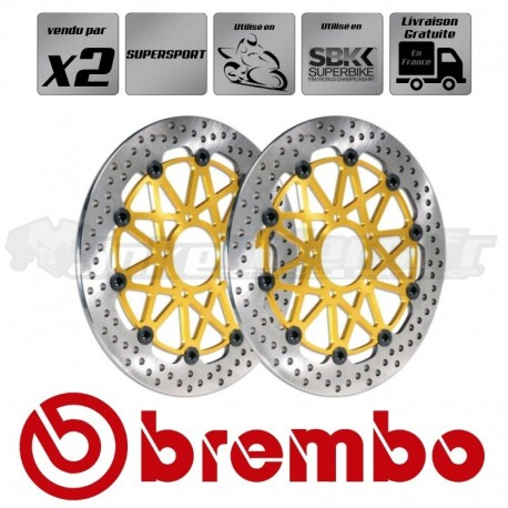 2x Disques PISTE et SUPERBIKE - BREMBO SUPERSPORT
