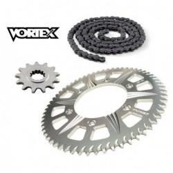Kit Chaine STUNT - 13x65 - GSXR 750 00-16 SUZUKI Chaine Grise