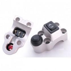 Contacteur ISR - 1 rocker + 1 poussoir - CNC - Guidon 22mm