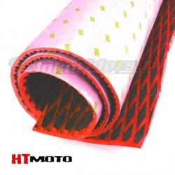 Plaque de Grip 75x90cm HTMOTO - NOIR & ROUGE