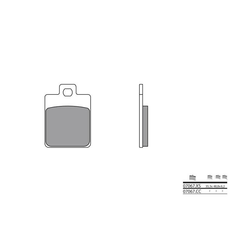 plaquettes de frein brembo 07067cc carbone c ramique. Black Bedroom Furniture Sets. Home Design Ideas
