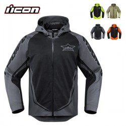 Blouson ICON RAIDEN UX WATERPROOF - NOIR