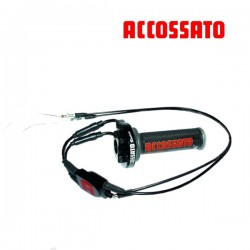 Quick Throttle Control Black ACCOSSATO + 3 sets adjustable + Cables