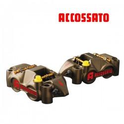 Etrier ACCOSSATO Monobloc CNC 4 pistons Titane 34mm - 108mm