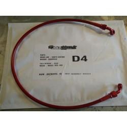Brake line GOODRIDGE - RED / RED 70cm