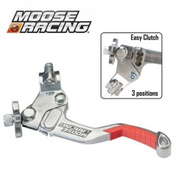 Levier Embrayage Shorty - MOOSE RACING Démultiplié - 3 positions - ROUGE