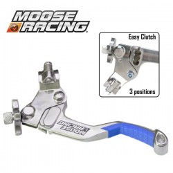 Levier Embrayage Shorty - MOOSE RACING Démultiplié - 3 positions - BLEU