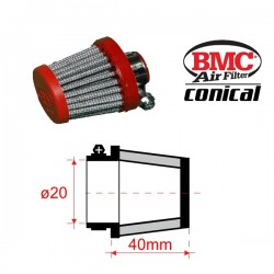 Filtre de Reniflards conique BMC - ø20mm x 40mm