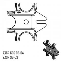 Platine Triple - ZX6R 636 98-04 - ZX9R 98-03