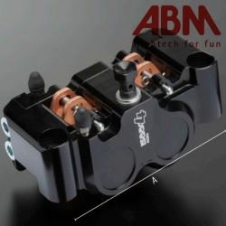 Front Left Caliper Radial CNC ABM isaac4 - 4 piston - 100mm