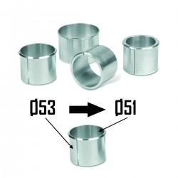 2x Bagues d'adaptation Ø53 à Ø51