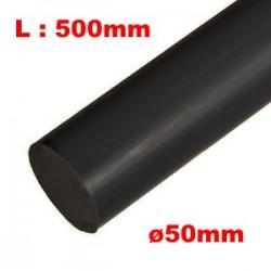 Barre DELRIN - Noir - Ø50mm - L500mm - pour fabrication de tampons