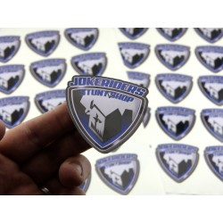 Sticker Jokeriders BLASON - Bleu 6x6cm