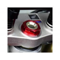 Ecrou de colonne de direction SCAR rouge Honda CRF250/450R