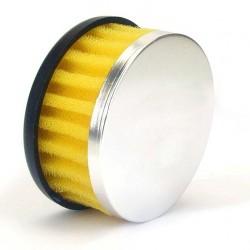Filtre à air V PARTS droit Ø28/35mm jaune