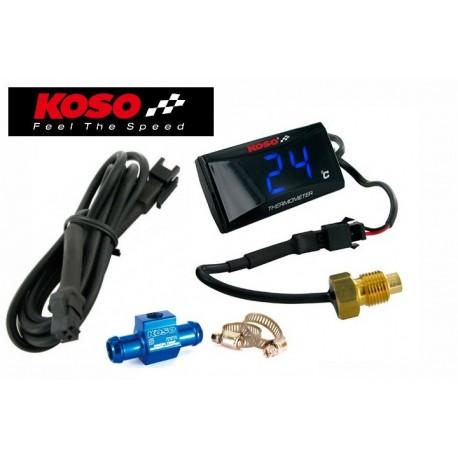 Indicateur de T° d'eau extra fin KOSO + Adapteur sur durite