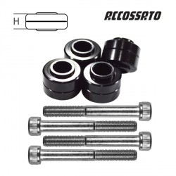 Kit 4 entretoises + 4 vis ACCOSSATO - 7.5mm à 15.5mm