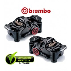 PACK BREMBO 2 CALIPERS .484 CNC RADIAUX BLACK 4X32 ENTRAXE 100