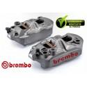 PACK BREMBO 2 ETRIERS M4 BRUT RADIAUX MONOBLOC MOULE ENTRAXE 108
