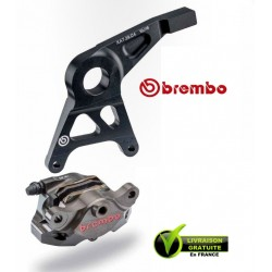 KIT BREMBO REAR CALIPER CNC BRUT WITH CARRIER CBR1000RR / SP 08-15