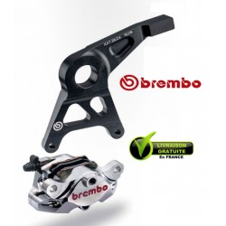 KIT REAR CALIPER BREMBO CNC NICKEL WITH CARRIER YZFR1000 R1 07-14