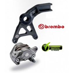 KIT BREMBO REAR CALIPER FORGED WITH CARRIER GSXR1000 07/08