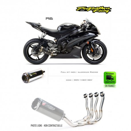 Full exhaust yamaha yzf r6 2006 2007 jokeriders for Best exhaust system for yamaha r6