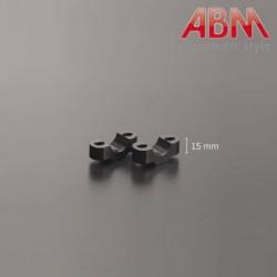 Pontets ABM BringUp 22,2mm - Rehausse 15mm - ALU