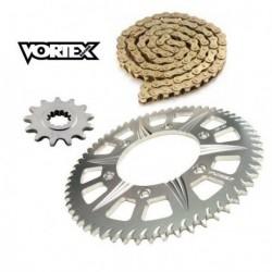 Kit Chaine STUNT - 15x65 - ZX-6R 600 636 98-02 KAWASAKI Chaine Or