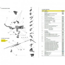 Adaptateur de montage Pour 167 HYMEC ESCLAVE RM-Z 250 2004-2008 (N°28.1 sur photo - réf : 0430240)