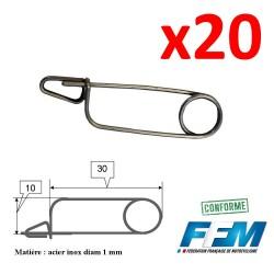 20x Epingles de Sécurité de Freinage - HOMOLOGUEE FFM