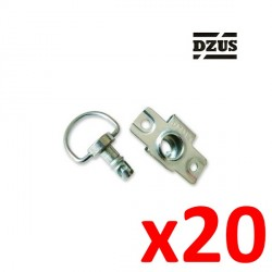 20x Fixation DZUS Type agrafe à riveter 6mm